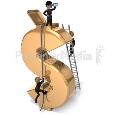 Money Lookout Success Presentation clipart