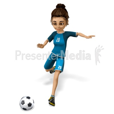 Lainee Soccer Kick Presentation clipart
