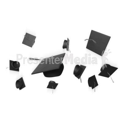 Graduation Hat Toss Presentation clipart