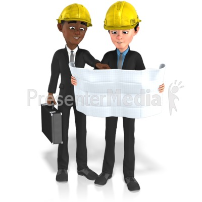 Businessmen Plans Contruct Presentation clipart
