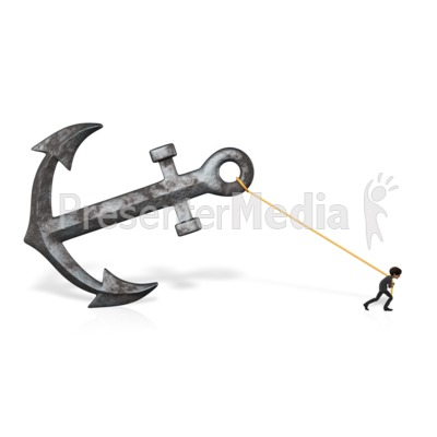 Anchor Business Pull Brad Presentation clipart