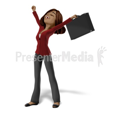 Talia Raise Arms Freedom Presentation clipart