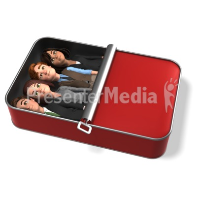 Business People Packed Like Sardines Presentation clipart