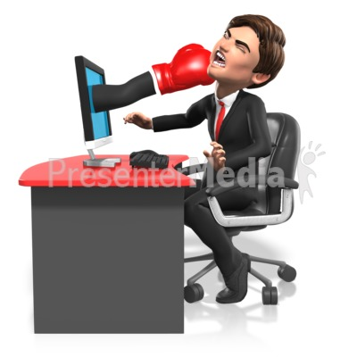 Business Punched Through Screen Presentation clipart