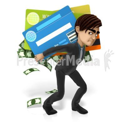 Grant Has More Debt Presentation clipart