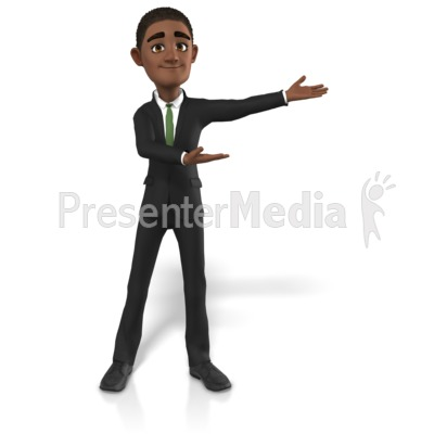 Businessman Gesturing To Side Presentation clipart