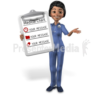 Nurse Showing Chart Presentation clipart