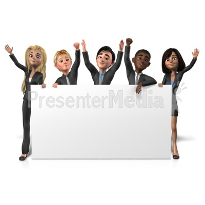 Business People Long Sign Presentation clipart