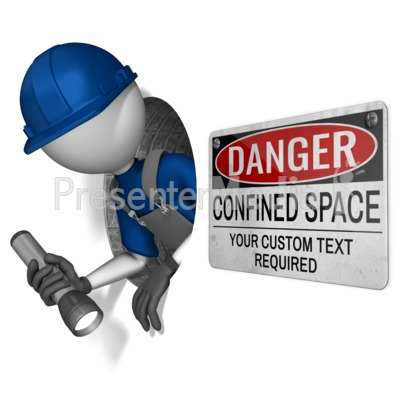 Figure In Confined Hole Presentation clipart