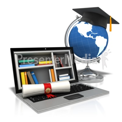 Diploma Laptop World Presentation clipart