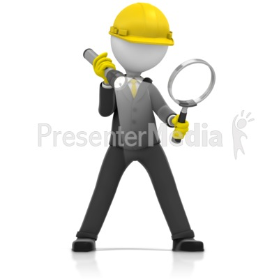 Inspector Magnify Glass Search Presentation clipart