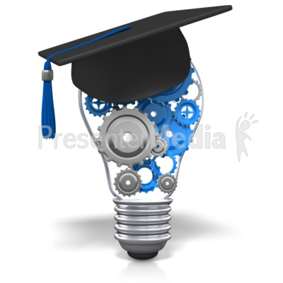 Lightbulb Gears Education Presentation clipart