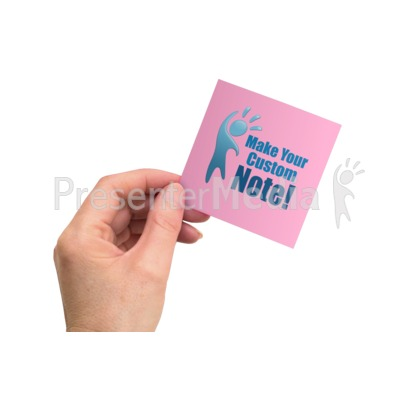 Hand Office Note Presentation clipart