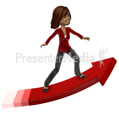 Talia Surfing Arrow Presentation clipart