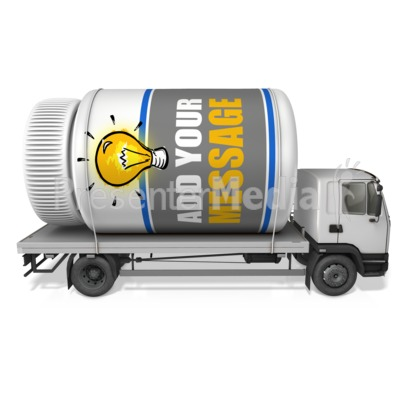 Pill Bottle Delivery Transport Presentation clipart