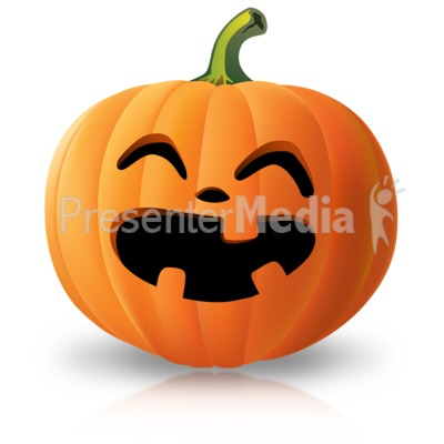 Simple Laughing Pumpkin Presentation clipart