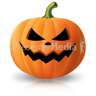 Simple Scary Pumpkin Presentation clipart