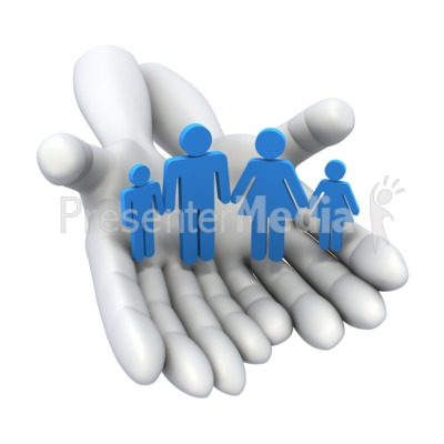 Hands Holding Family Presentation clipart