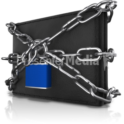 Wallet Locked Up Presentation clipart