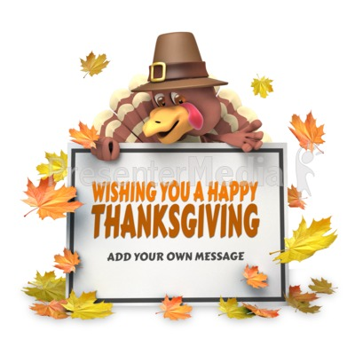Pilgrim Turkey Frame Presentation clipart