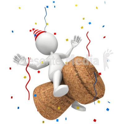 Figure Champagne Cork Presentation clipart