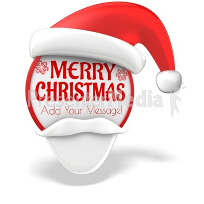 Santa Sign Presentation clipart