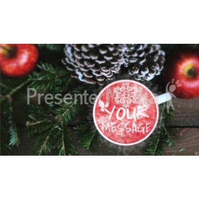 Coffee Apples And Pine Presentation clipart