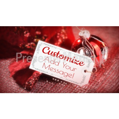 Christmas Tag Custom Presentation clipart