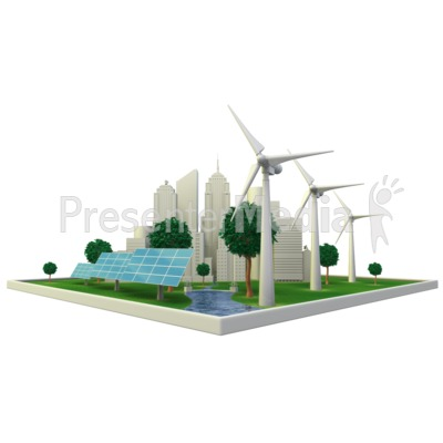 Renewable Energy City Presentation clipart