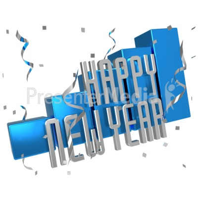 New Year Sales Graph Presentation clipart
