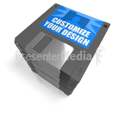Floppy Disk Stack Custom Presentation clipart