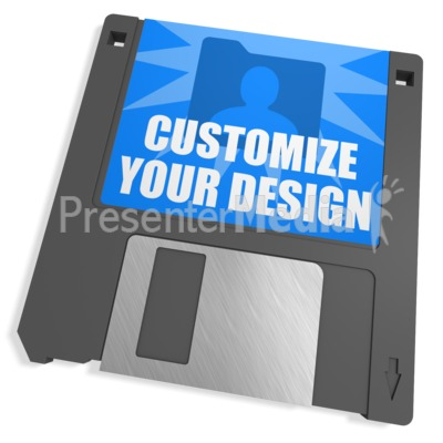 Floppy Disk Custom Presentation clipart