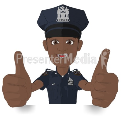Policeman Thumbs Up Presentation clipart