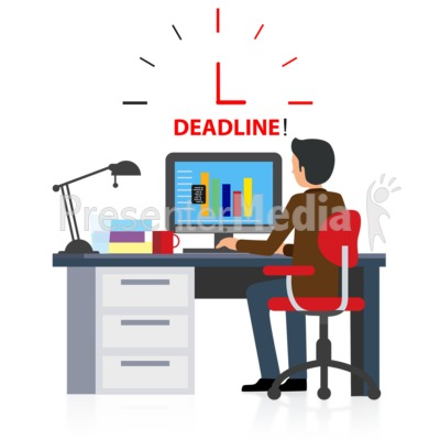 Office Deadline Computer Presentation clipart