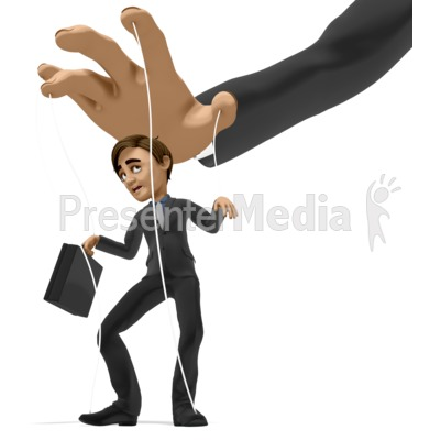 Business Man Puppet Presentation clipart
