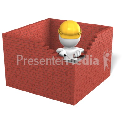 Figure Building Brick Box Presentation clipart