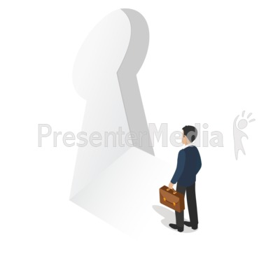 Man Business Unlocked Presentation clipart