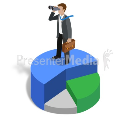 Graph Biz Guy Lookout Presentation clipart