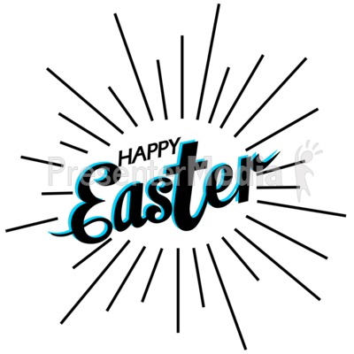 Happy Easter Shine Presentation clipart