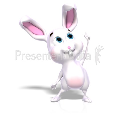 Bunny Idea Solution Presentation clipart