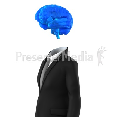 Businessman Brain Presentation clipart