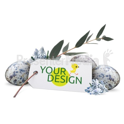 Flowers Eggs Custom Presentation clipart