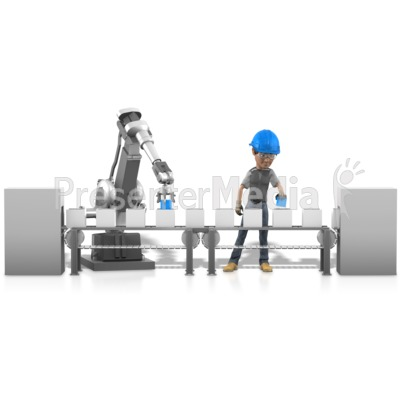 Human Robot Working Together Presentation clipart