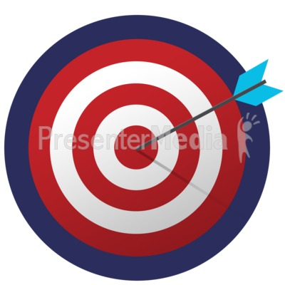 Bullseye Dead Center Presentation clipart