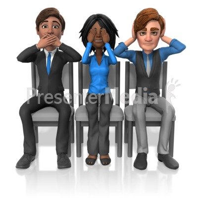 Business No Speak See Listen Presentation clipart