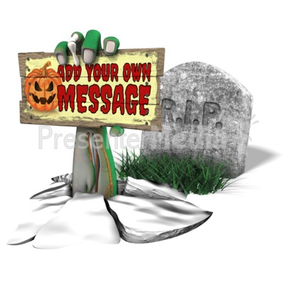 Scary Arm Grave Custom Presentation clipart