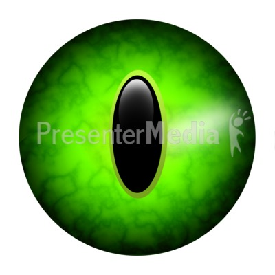 Scary Single Round Eye Presentation clipart
