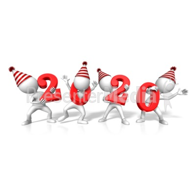 Figures Holding 2020 Year Presentation clipart