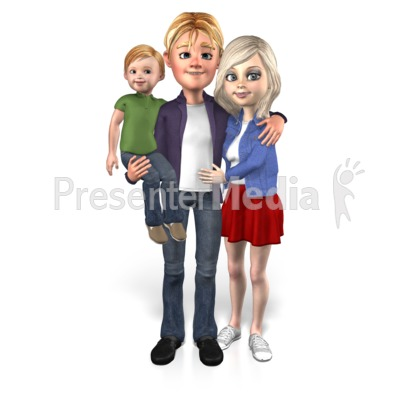 Family Together Single Child Presentation clipart
