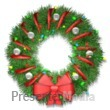 Wreath With Lights Presentation Clipart